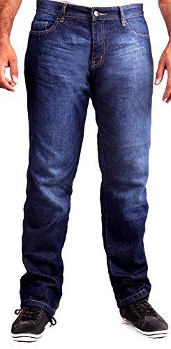 Hb premium qualità kevlar jeans per moto - pantaloni moto jeans, blu