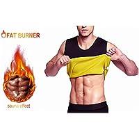ALIVER Men s Hot Sweat Body Modelador Cintura Trainer Chaleco Barriga Quemador de Grasa Adelgazar