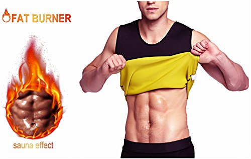 Aliver Men Compression Top Waist Trainer Vest for Weight Loss Hot Neoprene Corset Body Shaper Sauna Tank Top Workout Shirt