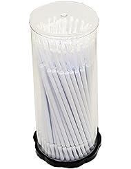 100 Stück Applikator Microfaser Reinigungsstäbchen- Weiss 1,5 mm