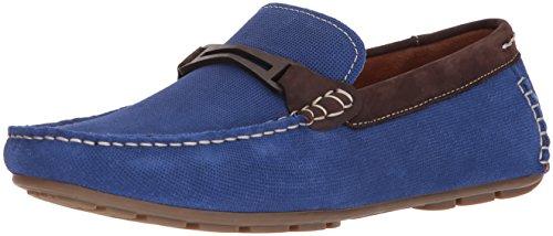 Steve Madden Men's Garland Loafer, Blue Suede, 12 M US