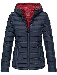 5ccd8906b0ef Marikoo Damen Übergangs Steppjacke Herbst Winter Jacke mit Kapuze 10 Farben  XS - XXL Lucy