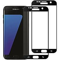 Okay Store Galaxy S7 Panzerglas Schutzfolie, [2 Stück] 3D Touch Kompatibel Displayschutzfolie 9H Härtegrad, Anti-Öl, Kratzer und Wasser Blasenfrei, Schutzfolie für Samsung Galaxy S7 [Schwarz]