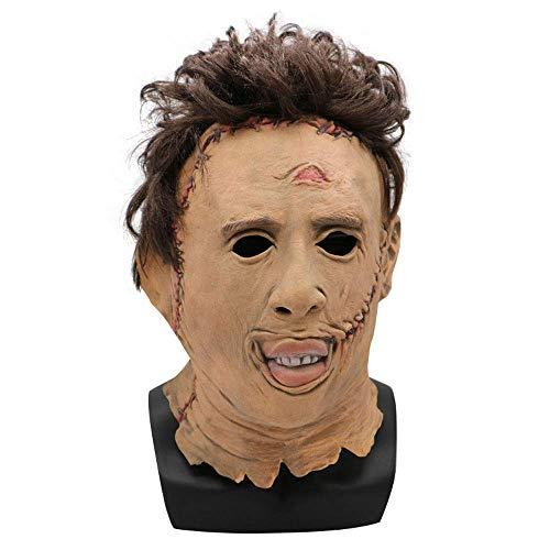 YaPin Halloween Texas Chainsaw Cry Maske Narbe Terrorist Kopfbedeckung Cosplay Maskerade Dress Up (Chainsaw Texas Gesicht)