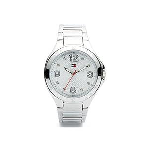 Reloj Tommy Hilfiger 1781314 de cuarzo para mujer con correa de acero inoxidable, color plateado de Tommy Hilfiger