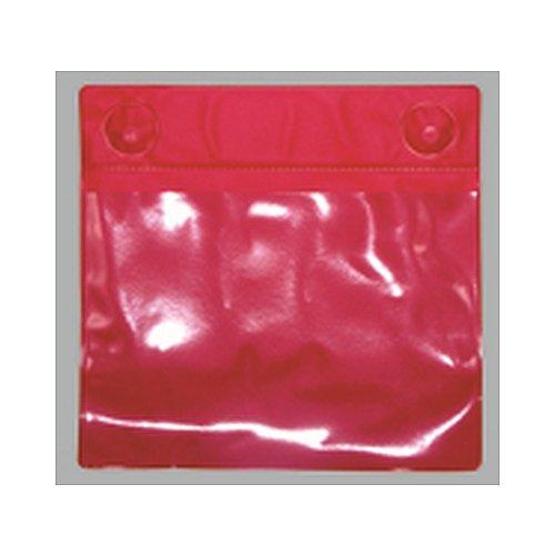 10x Magnettaschen aus Kunststofffolie rot Größe: 31,0 x 27,5cm (für DIN A4 quer)