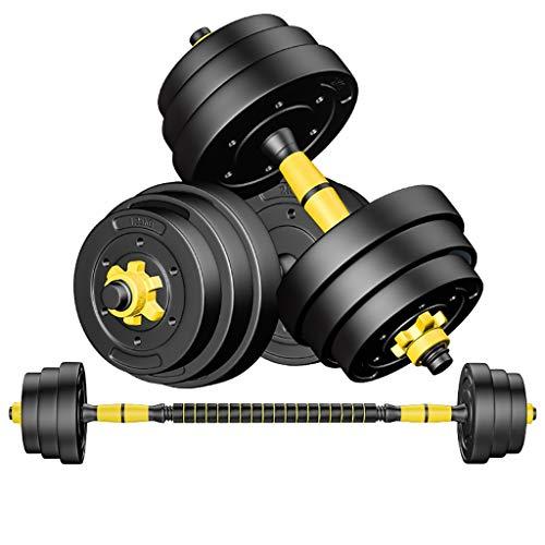 WSC Gummi-Hanteln, Herren-Fitness-Hanteln 10 kg, 15 kg, 20 kg Heimfitnessgeräte (Size : 10KG) (10 Pfund Hanteln Neopren)