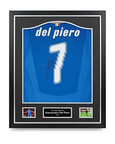 Alessandro-Del-Piero-Signed-Shirt-Framed-Autograph-Italy-7-Jersey-Memorabilia