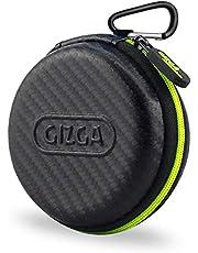 GIZGA ESSENTIALS Multi Purpose Pocket Storage Travel Organizer Case for Earphone, Pen Drives, Memory Card, Data Cable - Carbon Fibre (Black)