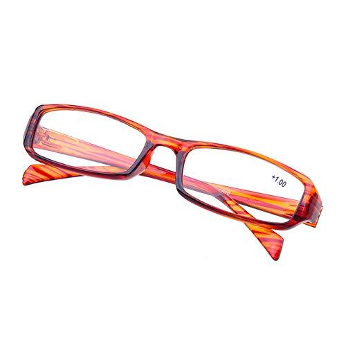 Yunso Klare Linse Gläser Nerdbrille für Frauen und Männer klassische Rahmen Unisex Brille (Braun, 2.00)