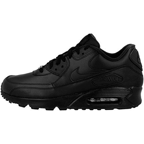 Nike Herren Air Max 90 Leather Laufschuhe, Schwarz Black 001, 40 EU