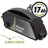 E-BIKE VISION Lithium Ionen Ersatz-Akku 36V 17Ah 612Wh für Bosch PowerPack Classic+ Rahmenakku