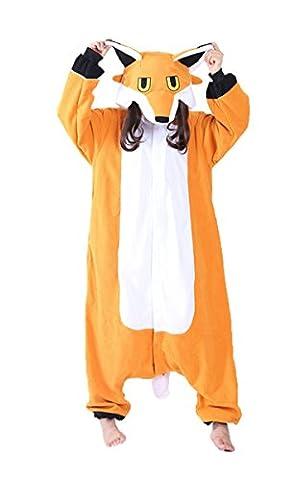 iPerry Pyjama Deguisement Combinaison Pijama - Chicone Adulte Renard Unisexe Animaux Cosplay Costume Kigurumi Halloween Noel Party Soirée de Déguisement