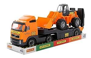 Polesie Volvo PowerTruck Trailer Truck + Loader (Tray) De plástico vehículo de Juguete - Vehículos de Juguete (De plástico, Negro, Naranja, Camión, Volvo, Niño, 220 mm)