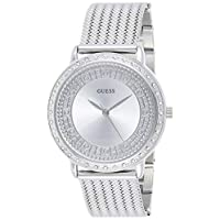 Guess Women's Silver Dial Stainless Steel Band Watch - W0836L2