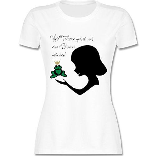 JGA Junggesellinnenabschied - Viele Frösche geküsst - XXL - Weiß - L191 - Damen T-Shirt ()
