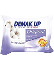 Demak'Up Lingettes Original Tous Types de Peaux x 35 Lot de 4