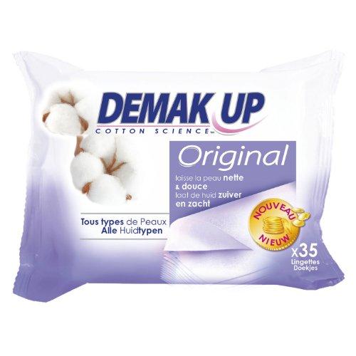 Demak'Up Lingettes Original Tous Types de Peaux x 35 Lot de 4