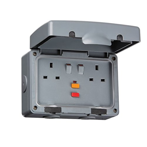Knightsbridge IP66 13 A RCD 2 G SWITCHED Socket iprcd - Switched Socket