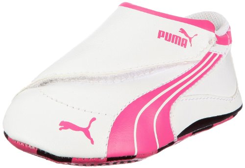 Puma Drift Cat 4 LW Crib 303981, Unisex - Kinder Sneaker, Weiss (white-fandango pink-black 03), EU 16 (UK 0) (US 1)