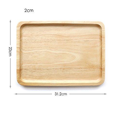 Plateau en hêtre plateau/assiette carrée dessert le bac/qualité assiette petit-déjeuner,B
