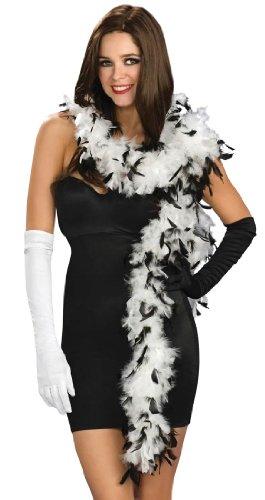 Federboas, schwarz & weiß