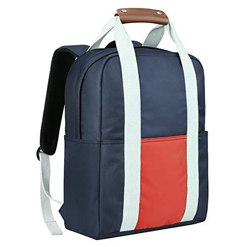 REYLEO Zaino Casual Impermeabile per il viaggio l'escursione Bagaglio a mano insieme con la valigia (Arancia e Blu scuro)