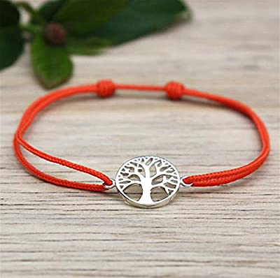 Bracelet cordon arbre de vie argent 925 pour femme