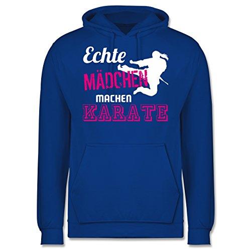 Shirtracer Kampfsport - Echte Mädchen Machen Karate - XL - Royalblau - JH001 - Herren Hoodie