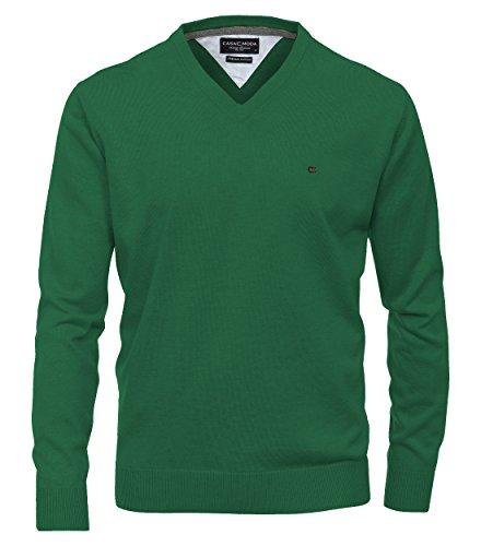 Casa Moda - Herren Pullover mit V-Ausschnitt in verschiedenen Farben (004130) Grün (324)