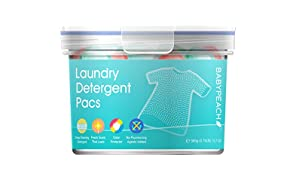 BABYPEACH 3 in 1 Natural Laundry Detergent Pods,Gentle on Skin and Clothes,21 Count,12.7 Oz