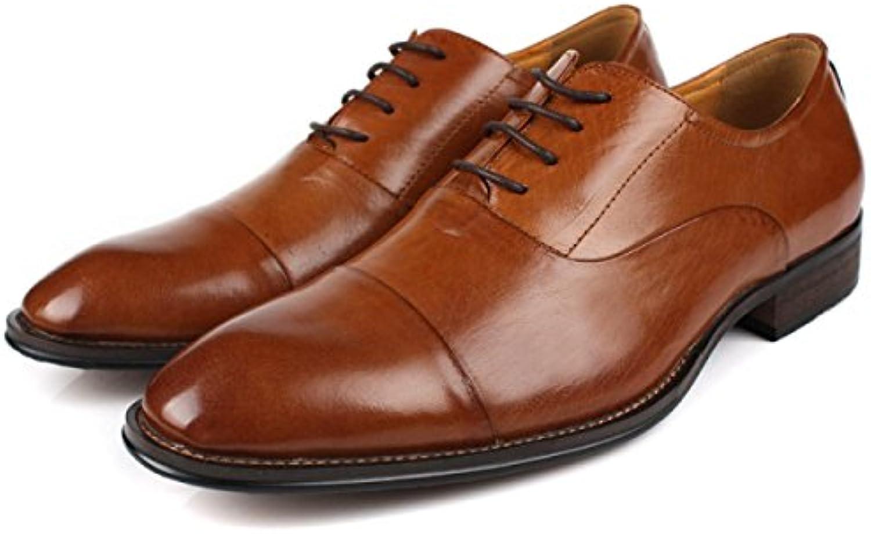 Hombre Negocios Zapatos De Cuero Casuales Vestido Puntuda Encaje Moda Formal Boda Zapatos Con Cordones
