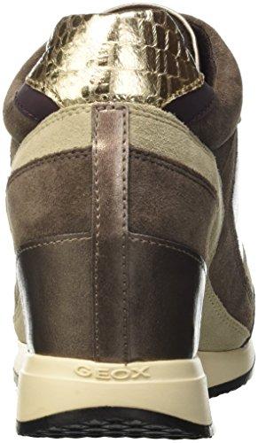Geox D Nydame A, Sneakers Hautes Femme Braun (Lead/CHESTNUTC9H6J)