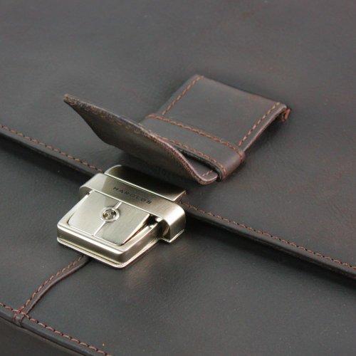 Harolds Toro borsa a tracolla pelle 36 cm nero marrone scuro