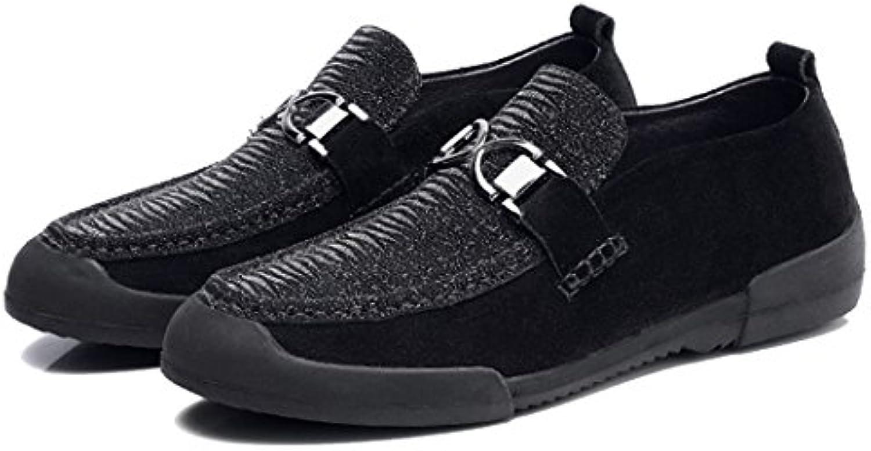 GAOLIXIA Herrenschuhe Business Casual Schuhe Fahren Schuhe Bestnote Männer Freizeitschuhe Black Peas Schuhe