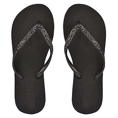 Do Bhai Women Flipflop,Colour-Black(Size-36)