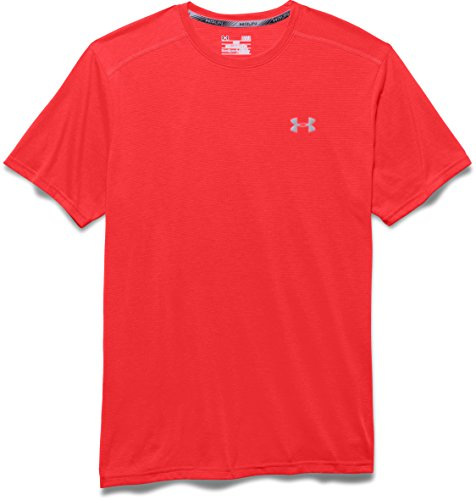 Under Armour Streaker Maglietta a Maniche Corte, da Uomo Rocket Red-984