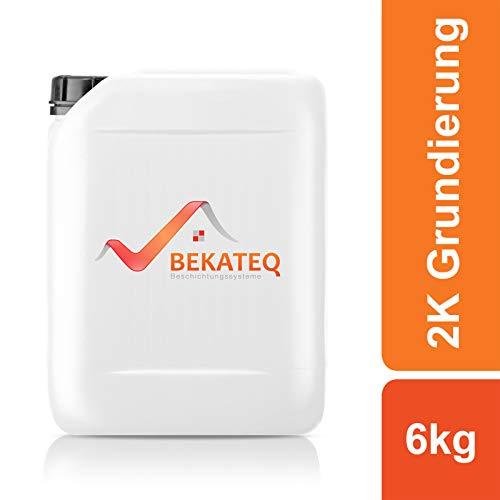 BEKATEQ 2K Grundierung farblos 6kg, BK-190EP Haftgrundierung für Epoxidharz Bodenfarbe, Betonfarbe, Bodenbeschichtung