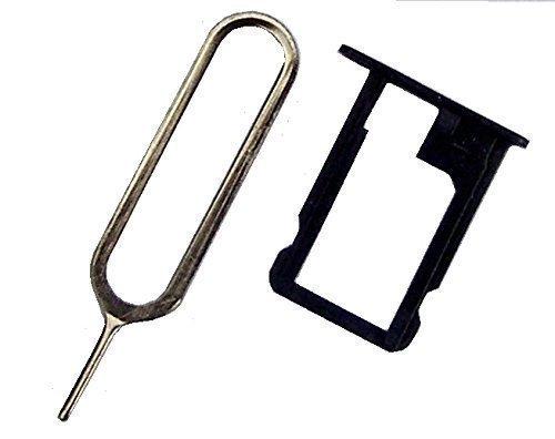 Sim Halter für iPhone 5 in Schwarz mit Nadel - Dealbude24 (5 I Phone Handy-sim-karte)
