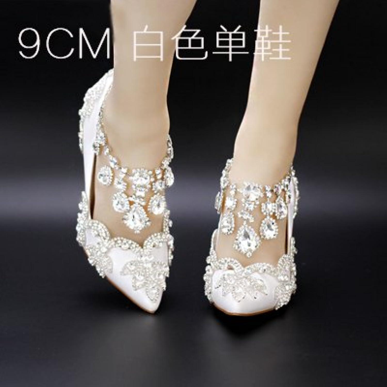 VIVIOO Prom Sandals scarpe Crystal Buckle Strap rosso High-Heeled High-Heeled High-Heeled Summer Diamond Wedding scarpe Bride Hollow Crystal... | Vendita  9b94eb