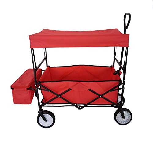 Ampliación de tamaño 600D Oxford Carrito de compras ecológico desmontable Pesca al aire libre plegable para comprar Carro de herramientas de alimentos ?rojo?