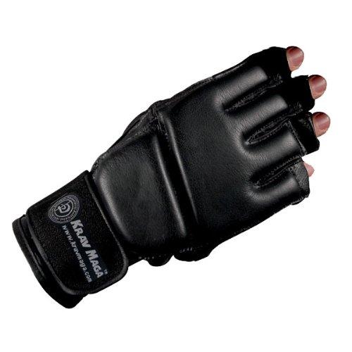 Revgear Krav MAGA Grappling-Handschuh aus Leder, Unisex-Erwachsene, schwarz, XX-Large