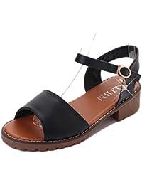 KUKI Scarpe basse con sandali da donna di grandi dimensioni sandali alla moda in stile romano , 2 , US8.5/ EU40 / UK6.5/ CN40