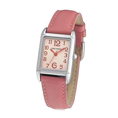 Time Force Reloj Analógico para Mujer de Cuarzo con Correa en Cuero TF3357B11