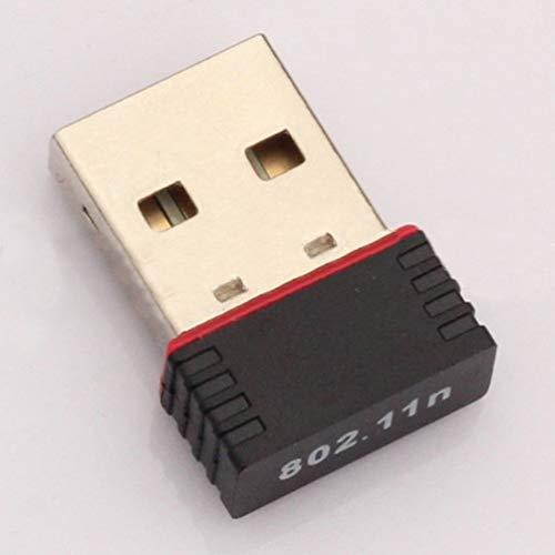 Nihlsen Mini PC Adapter für WiFi USB Antenne WiFi Ordenador inalámbrico Tarjeta de red Ordenador inalámbrico Tarjeta de red Receptor Banda dual - Negro - Wifi Para Antenne