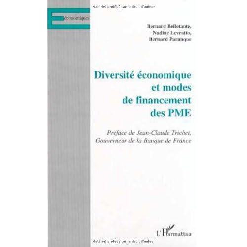 Diversité économique et Modes de financements des PME