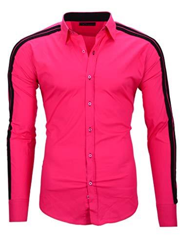 Kayhan Herren Hemd, Python II Pink S