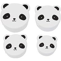 Preisvergleich für A little lovely company - Snack box: Panda - Butterbrotsdose, Pausendose - Pandadose - 4er Set