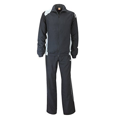 PUMA United Woven Suit, Präsentationsanzug - Trainingsanzug, 651447, schwarz (puma black-steel-grey-white 03), Größe: S -