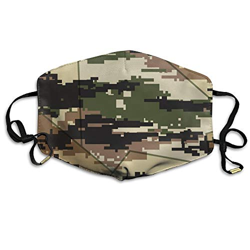 Masken, Masken für Erwachsene, Unisex Unique Mouth Mask, Camo Pattern Reuseable Polyester Face Mouth Mask Respirator for Cycling Anti Dust for Unisex Men Women ()